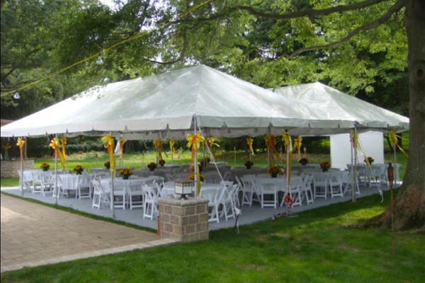 Open Tent with Seating
